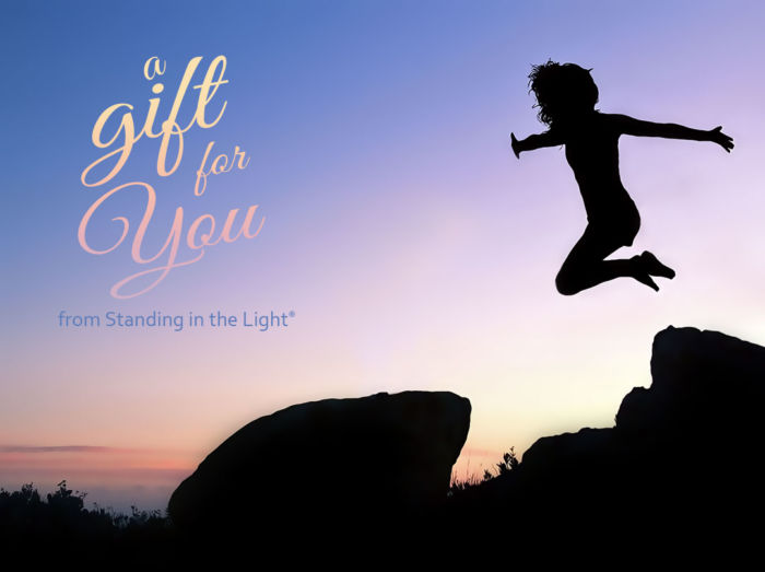 Gril in Flight - a gift for you from Standing in the Light